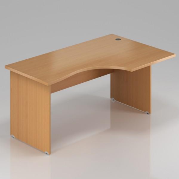 Rauman Ergonomický stůl Visio 140 x 70/100 cm, pravý buk - doprava ZDARMA