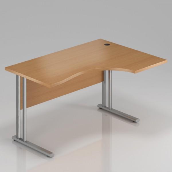 Rauman Ergonomický stůl Visio 160 x 70/100 cm, pravý buk - doprava ZDARMA