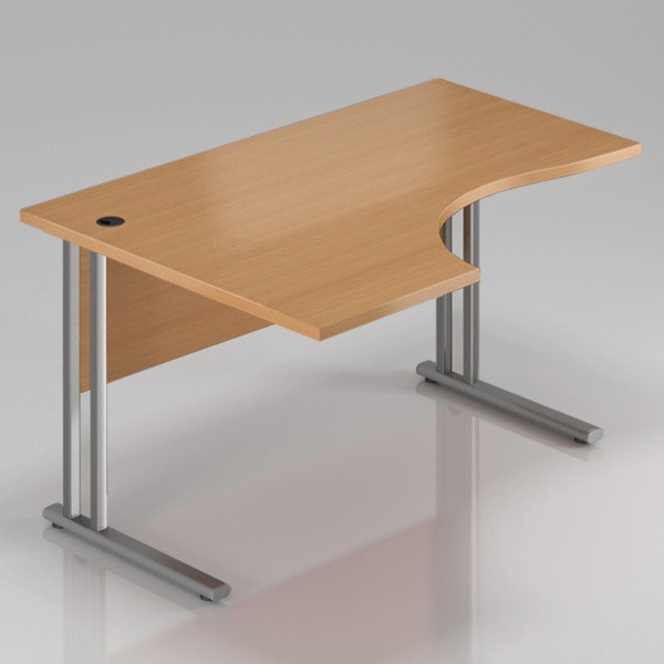 Rauman Ergonomický stůl Visio 140 x 70/100 cm, levý buk - doprava ZDARMA